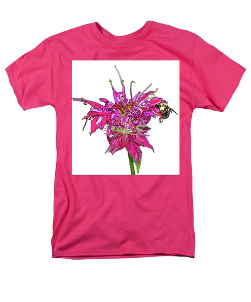 Bee Balm Men's T-Shirt  (Regular Fit) by Jamie Downs