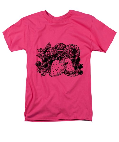 Berries From Forest Men's T-Shirt  (Regular Fit) by Irina Sztukowski