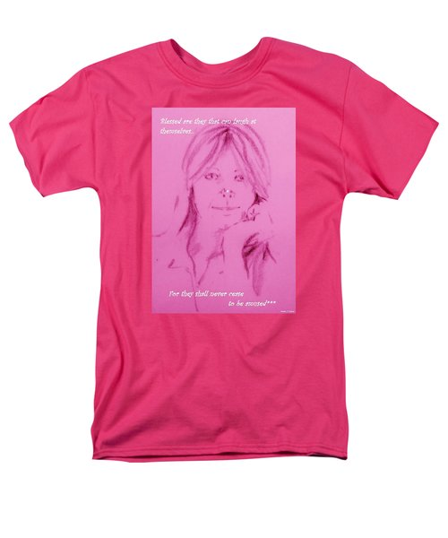 Men's T-Shirt  (Regular Fit) featuring the drawing Blessed Are They by Denise Fulmer