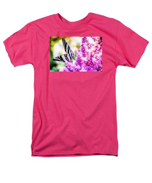 Butterfly Beautiful  Men's T-Shirt  (Regular Fit) by Peggy Franz