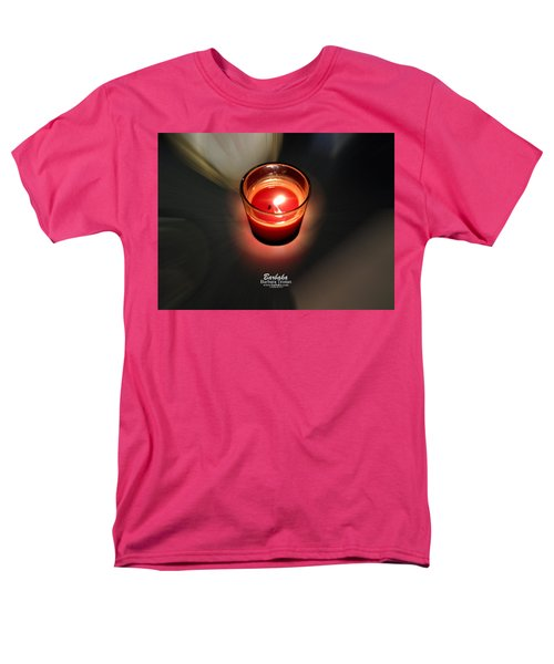 Candle Inspired #1173-3 Men's T-Shirt  (Regular Fit) by Barbara Tristan