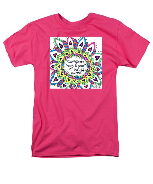 Caregiver Flower Men's T-Shirt  (Regular Fit) by Carole Brecht