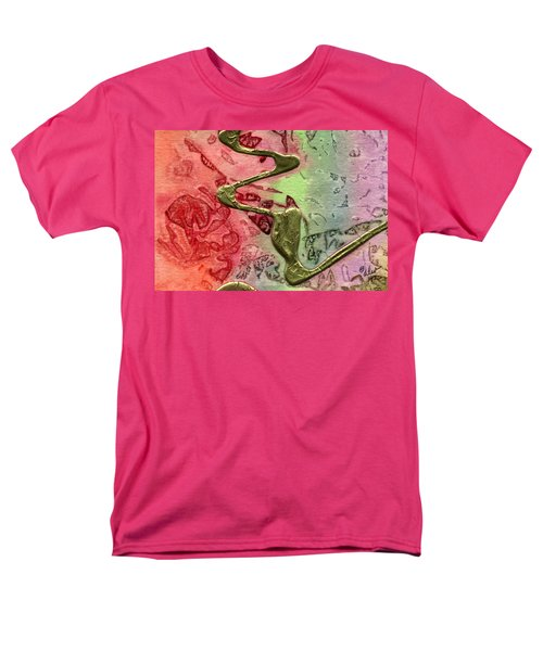 Men's T-Shirt  (Regular Fit) featuring the mixed media Changes by Angela L Walker