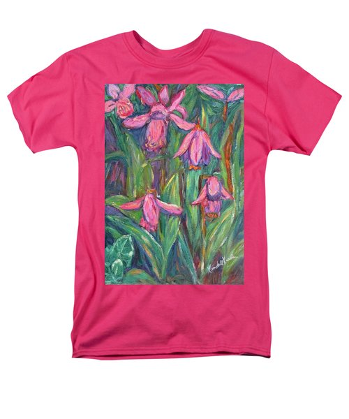 Men's T-Shirt  (Regular Fit) featuring the painting Chinese Orchids by Kendall Kessler