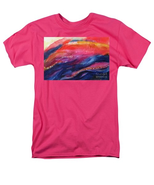Men's T-Shirt  (Regular Fit) featuring the painting Coatings And Deposits Of Color by Kathy Braud