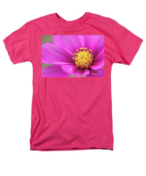 Men's T-Shirt  (Regular Fit) featuring the photograph Cosmos Pink Sensation by Sharon Mau