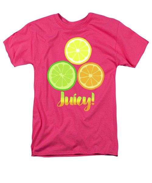 Cute Juicy Orange Lime Lemon Citrus Fun Art Men's T-Shirt  (Regular Fit) by Tina Lavoie