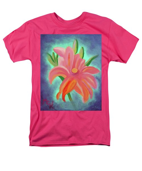Men's T-Shirt  (Regular Fit) featuring the painting Daylily At Dusk by Margaret Harmon