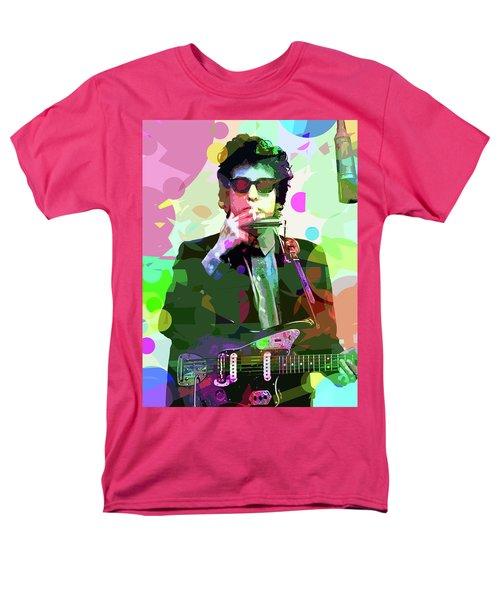 Dylan In Studio Men's T-Shirt  (Regular Fit) by David Lloyd Glover
