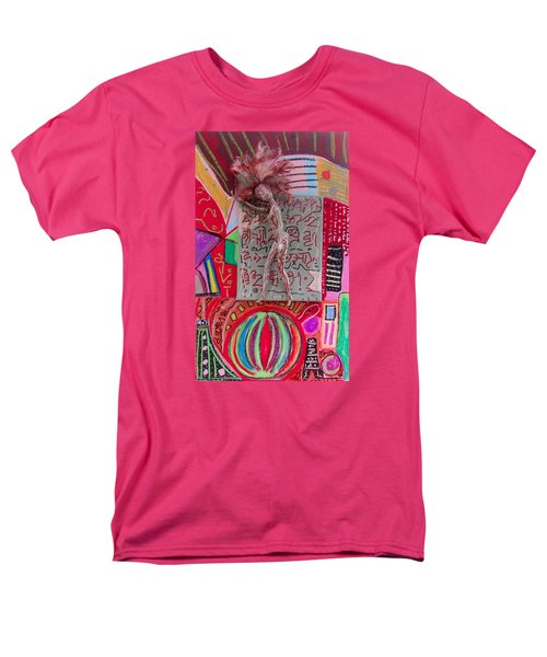 Men's T-Shirt  (Regular Fit) featuring the painting Echinacea Herbal Tincture by Clarity Artists