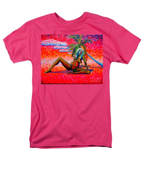 Men's T-Shirt  (Regular Fit) featuring the painting elle or Pablo's girl by Viktor Lazarev
