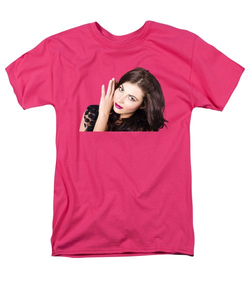 Men's T-Shirt  (Regular Fit) featuring the photograph Face Of A Beautiful Woman. Perfect Beauty Makeup by Jorgo Photography - Wall Art Gallery