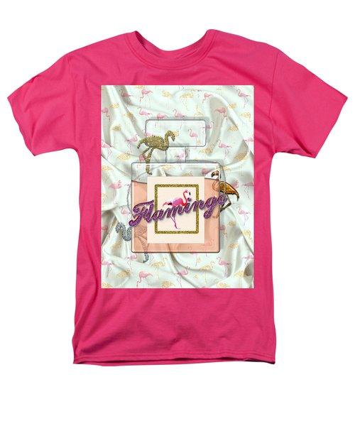 Flamingo Men's T-Shirt  (Regular Fit) by La Reve Design