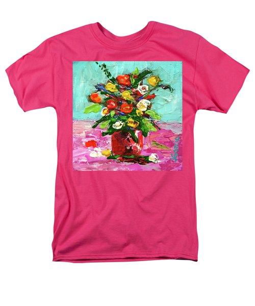 Floral Arrangement Men's T-Shirt  (Regular Fit) by Janet Garcia