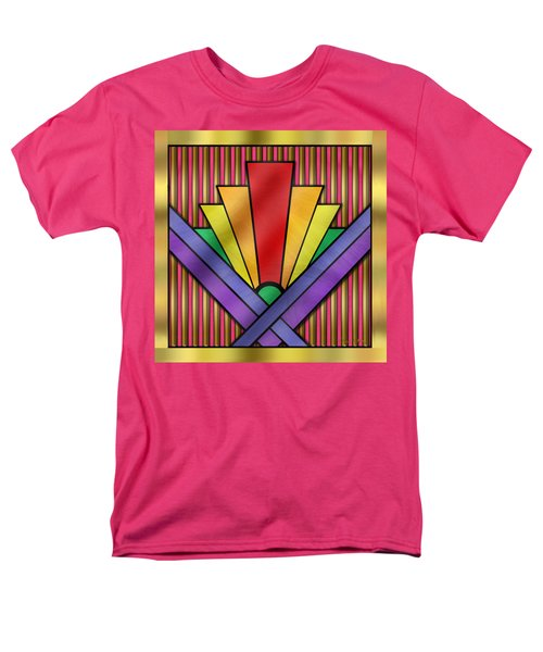 Rainbow Art Deco Men's T-Shirt  (Regular Fit) by Chuck Staley