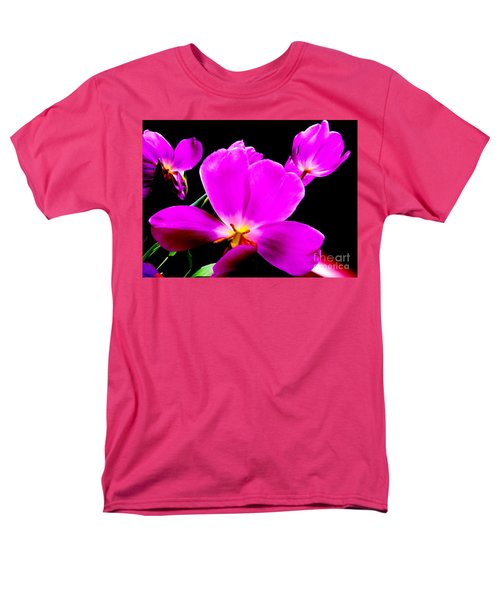 Glowing Tulips Men's T-Shirt  (Regular Fit) by Tim Townsend