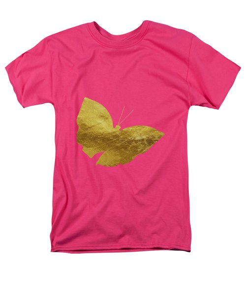 Gold Glam Butterfly Men's T-Shirt  (Regular Fit) by P S