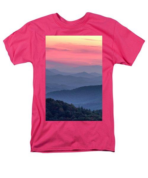Great Smoky Mountain Sunset Men's T-Shirt  (Regular Fit) by Teri Virbickis