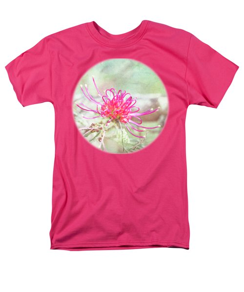 Men's T-Shirt  (Regular Fit) featuring the photograph Grevillea by Linda Lees