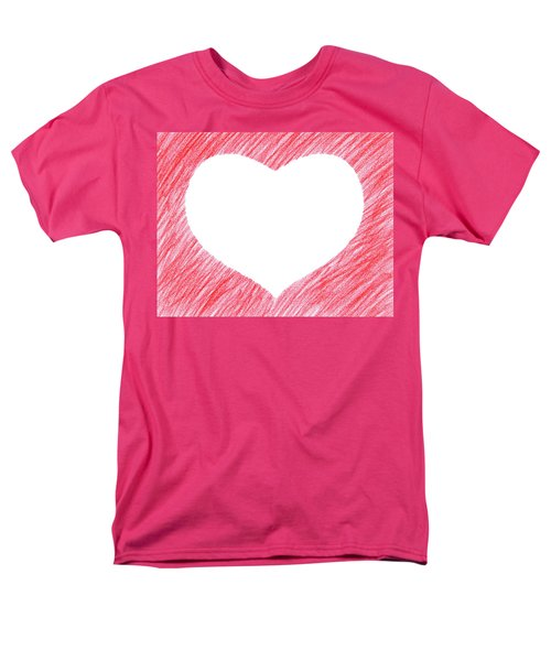 Hand-drawn Red Heart Shape Men's T-Shirt  (Regular Fit) by GoodMood Art