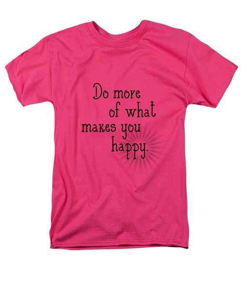 Text Art Happy Men's T-Shirt  (Regular Fit) by Melanie Viola