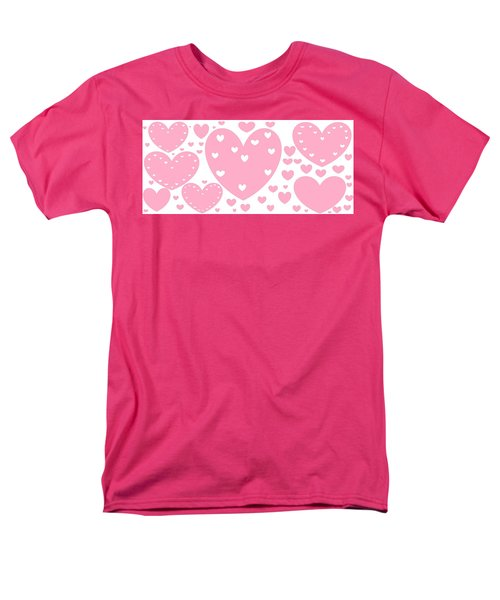 'just Hearts' Men's T-Shirt  (Regular Fit) by Linda Velasquez