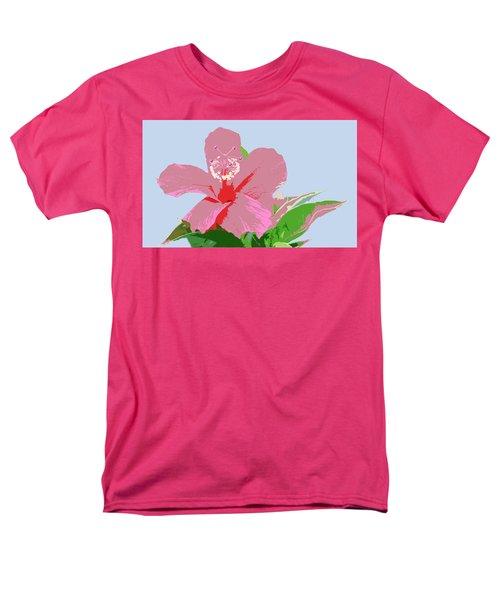 Hibiscus Flower Art - 2 Men's T-Shirt  (Regular Fit) by Karen Nicholson