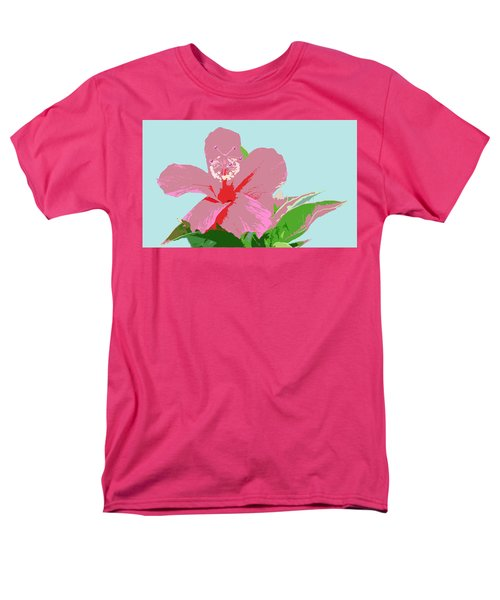 Hibiscus Flower Art - 3 Men's T-Shirt  (Regular Fit) by Karen Nicholson