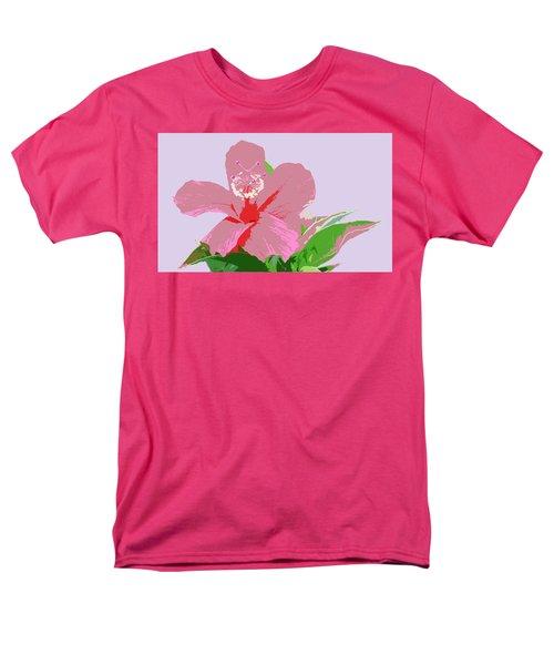 Hibiscus Flower Art Men's T-Shirt  (Regular Fit) by Karen Nicholson