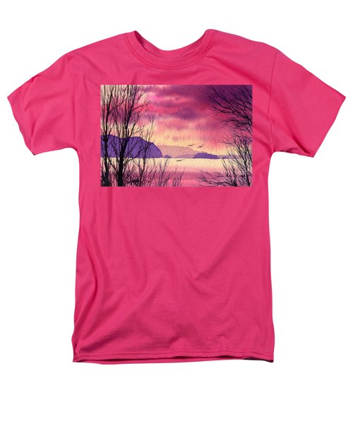 Men's T-Shirt  (Regular Fit) featuring the painting Inland Sea Islands by James Williamson
