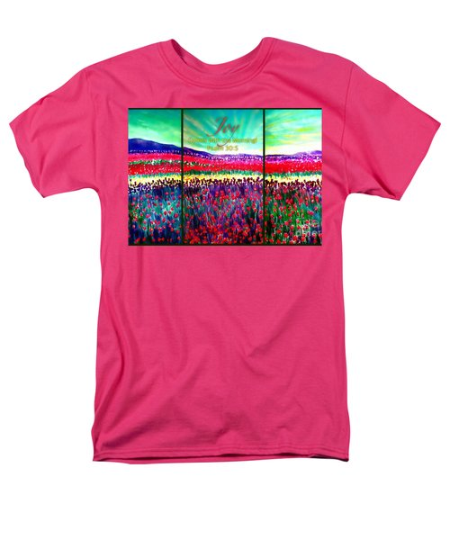 Joy Comes With The Morning Triptych  Men's T-Shirt  (Regular Fit) by Kimberlee Baxter