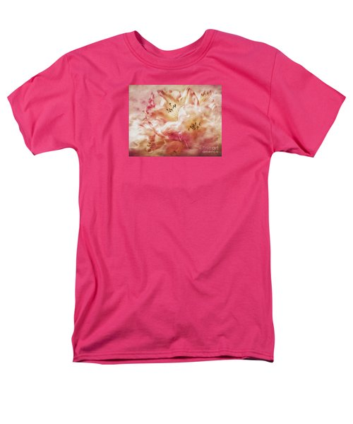 Jubilee Blush Men's T-Shirt  (Regular Fit) by Jean OKeeffe Macro Abundance Art