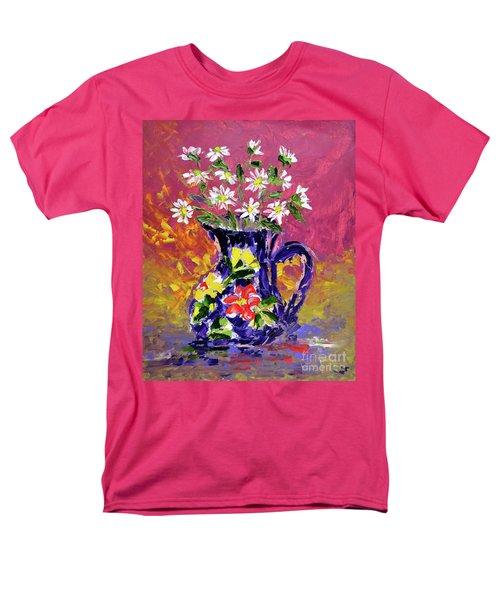 Jug Of Daisies Men's T-Shirt  (Regular Fit) by Lynda Cookson