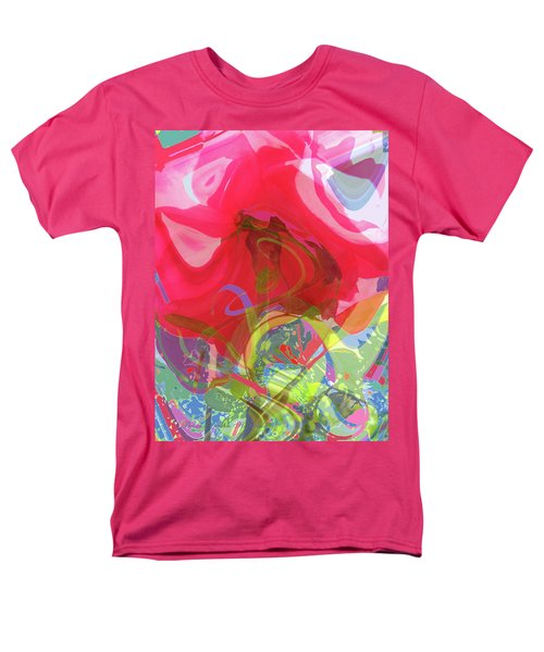 Just A Wild And Crazy Rose - Floral Abstract Men's T-Shirt  (Regular Fit) by Brooks Garten Hauschild