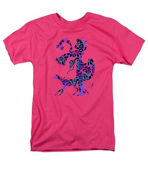Lady Dog Walker Overlay Transparent Background Men's T-Shirt  (Regular Fit) by Barbara St Jean