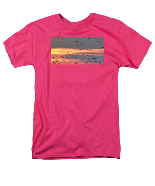 Lapwings At Sunset Men's T-Shirt  (Regular Fit) by Jeff Townsend