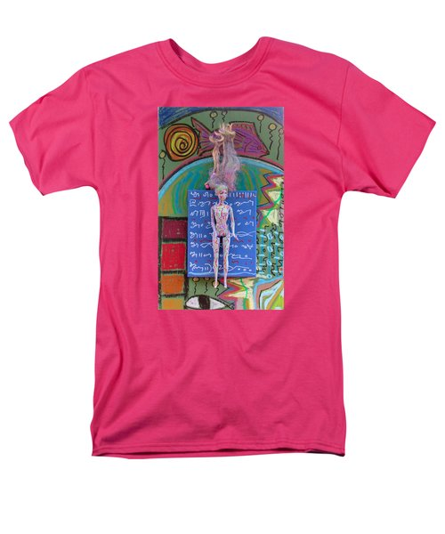 Men's T-Shirt  (Regular Fit) featuring the painting Lavender Herbal Tincture by Clarity Artists