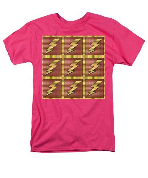 Men's T-Shirt  (Regular Fit) featuring the digital art Lightning Bolt Group - Transparent by Chuck Staley