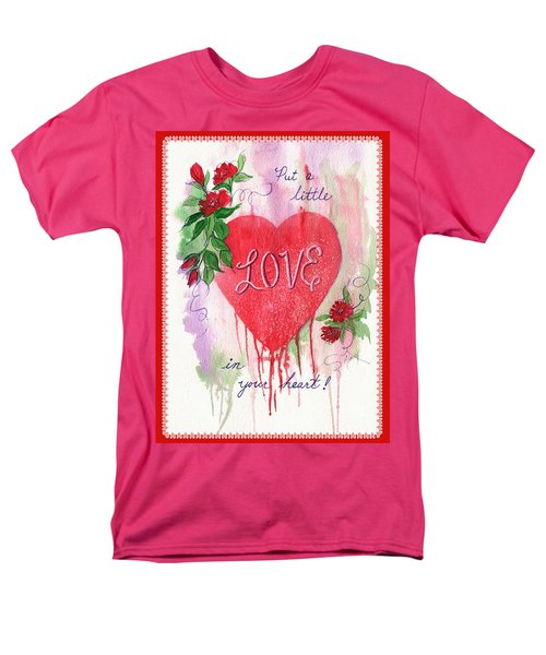 Men's T-Shirt  (Regular Fit) featuring the painting Love Valentine by Marilyn Smith