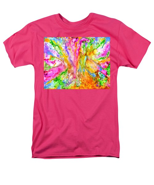 Luscious Colorful Modern Abstract With Pastel Shades Men's T-Shirt  (Regular Fit)
