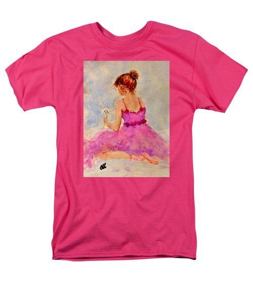Men's T-Shirt  (Regular Fit) featuring the painting Make A Wish..16 by Cristina Mihailescu