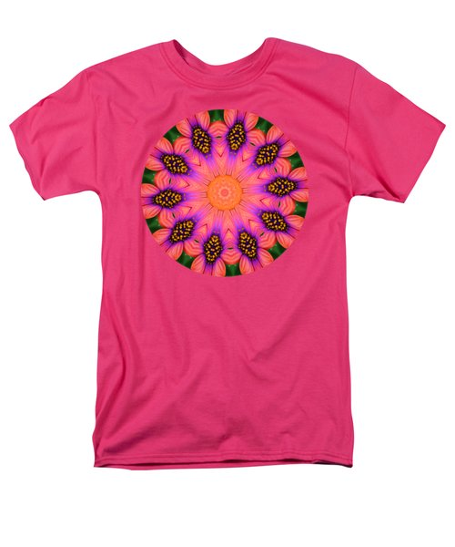 Mandala Salmon Burst - Prints With Salmon Color Background Men's T-Shirt  (Regular Fit) by Hao Aiken