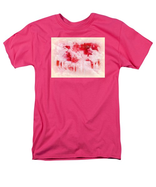 Men's T-Shirt  (Regular Fit) featuring the digital art Merry Christmas And A Blessed New by Sherri Of Palm Springs