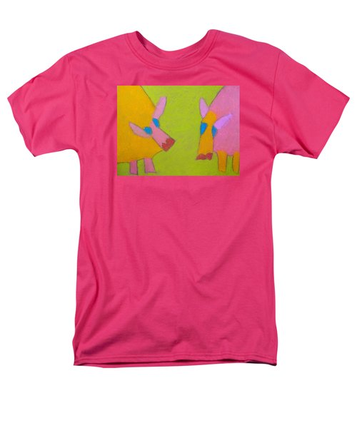 Men's T-Shirt  (Regular Fit) featuring the pastel Mischievous Pigs by Artists With Autism Inc