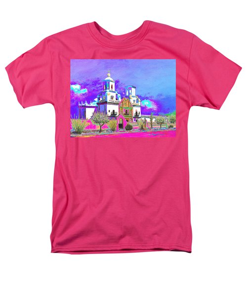 Men's T-Shirt  (Regular Fit) featuring the painting Mission Abstract 3 by M Diane Bonaparte