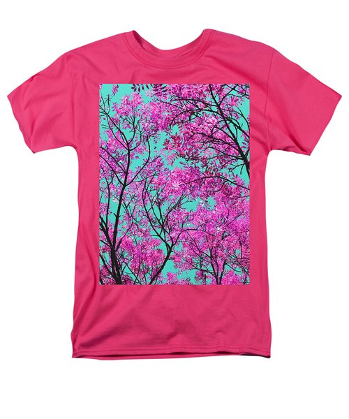 Natures Magic - Pink And Blue Men's T-Shirt  (Regular Fit) by Rebecca Harman