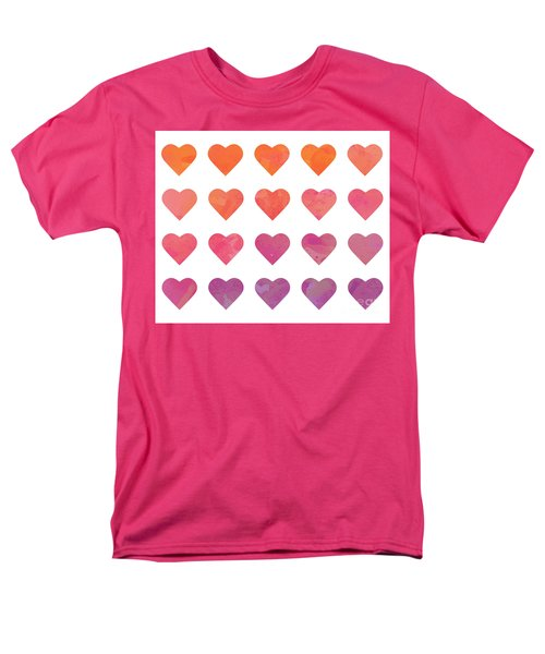 Ombre Hearts Men's T-Shirt  (Regular Fit) by Whitney Morton