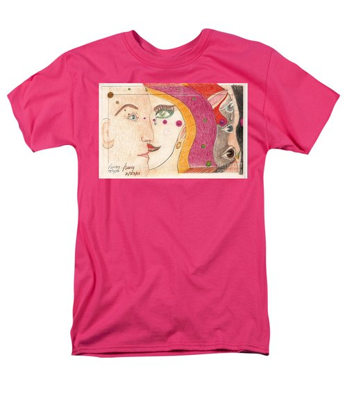 Men's T-Shirt  (Regular Fit) featuring the drawing Paranoia by Rod Ismay