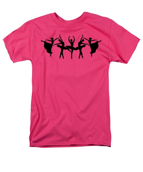 Passionate Dance Ballerina Silhouettes Men's T-Shirt  (Regular Fit) by Irina Sztukowski