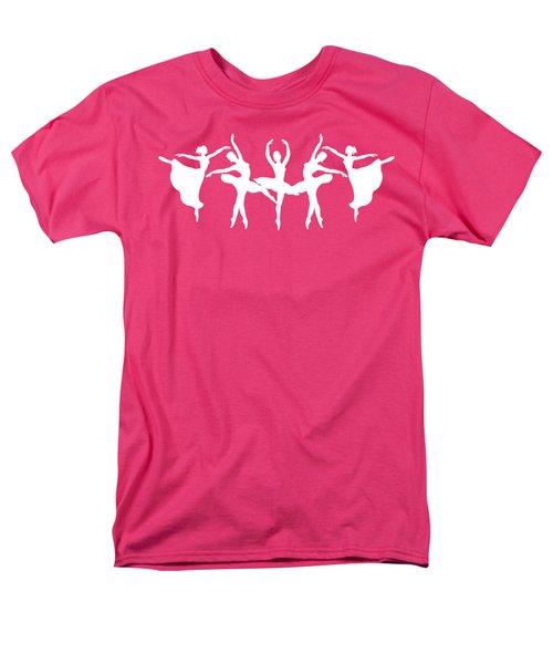 Passionate Dance Ballerinas Silhouettes In White Men's T-Shirt  (Regular Fit) by Irina Sztukowski